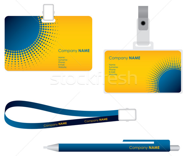 Targhetta carta business sicurezza spazio Foto d'archivio © place4design