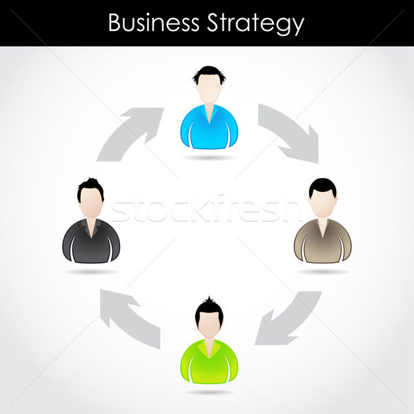 special business strategy concept with special businessman icons Stock photo © place4design