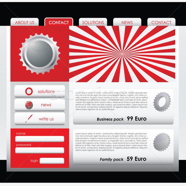 Progettazione di siti web modello mappa abstract sfondo contatto Foto d'archivio © place4design