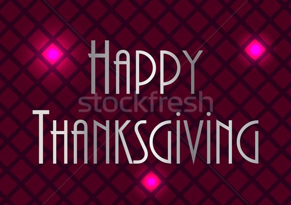 Feliz acción de gracias resumen vector diseno plasma Foto stock © place4design