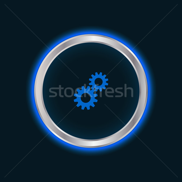 Weboldal beállítások gomb vektor eps10 internet Stock fotó © place4design
