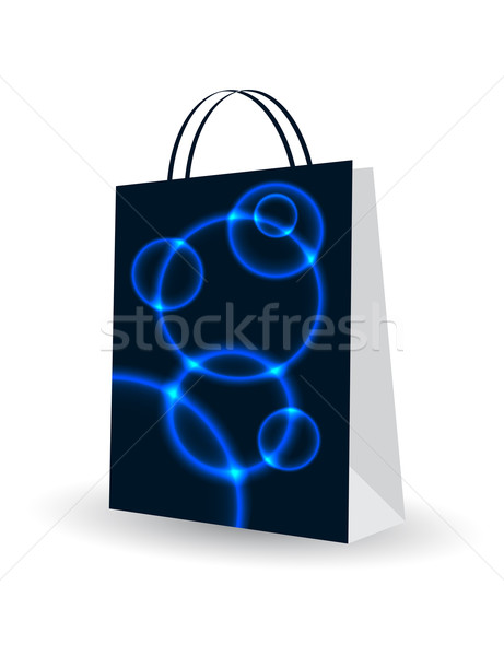 Shopping bag speciale plasma design business moda Foto d'archivio © place4design