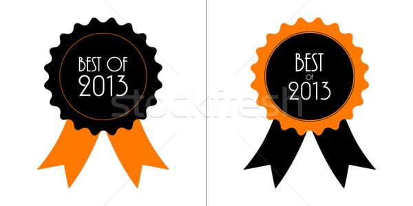 Migliore 2013 badge nastri shopping segno Foto d'archivio © place4design