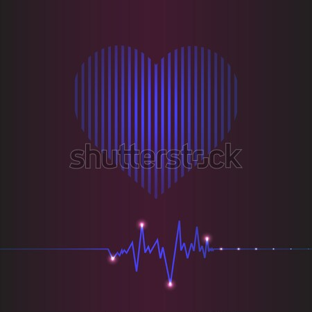 special abstract heart beats cardiogram illustration Stock photo © place4design