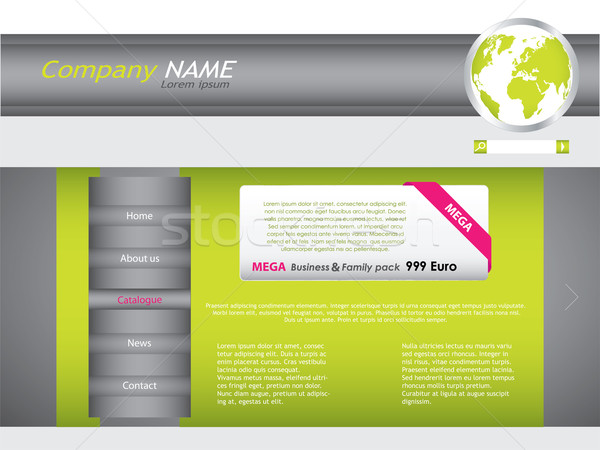 Vector web site design template Stock photo © place4design