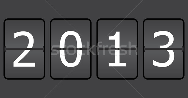 special numbers on a mechanical timetable, 2013 Stock photo © place4design