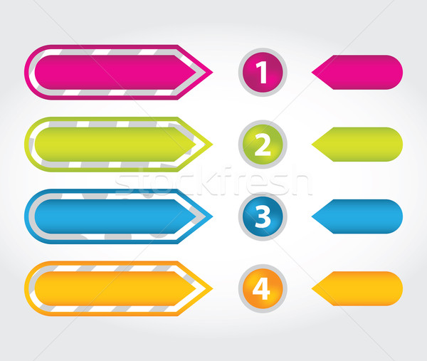 special arrow stickers set with numbered buttons Stock photo © place4design