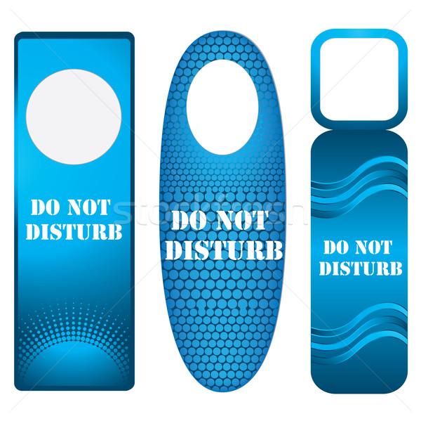 blue door knob or hanger sign - do not disturb Stock photo © place4design