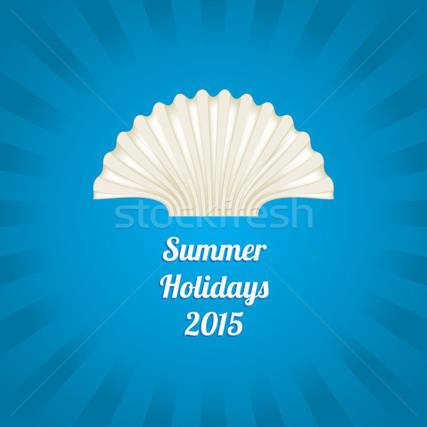 Summer background with a special sea shell design Stock photo © place4design