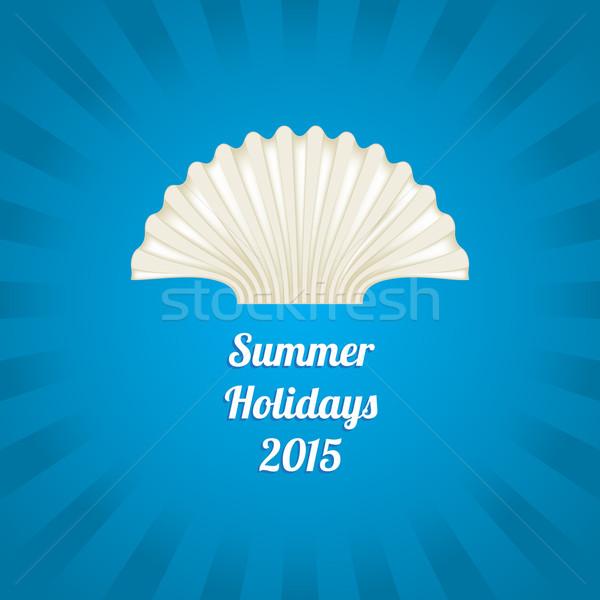 Nyár különleges tenger kagyló terv tengerpart Stock fotó © place4design