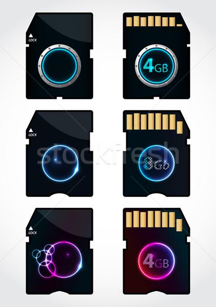 Különleges emlék üdvözlőlap design elöl hát zene Stock fotó © place4design