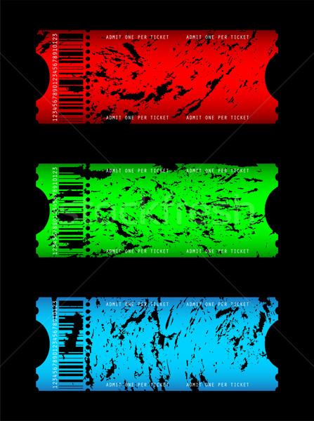 Filme bilhete filme assinar verde azul Foto stock © place4design