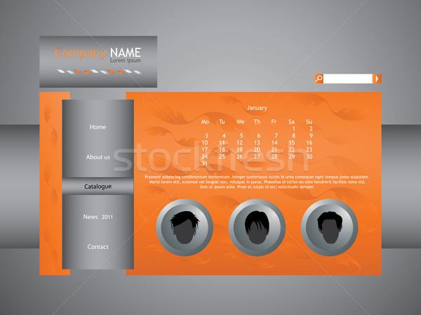 orange web site template Stock photo © place4design