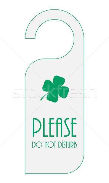 door knob with Saint Patrick's Day design Stock photo © place4design