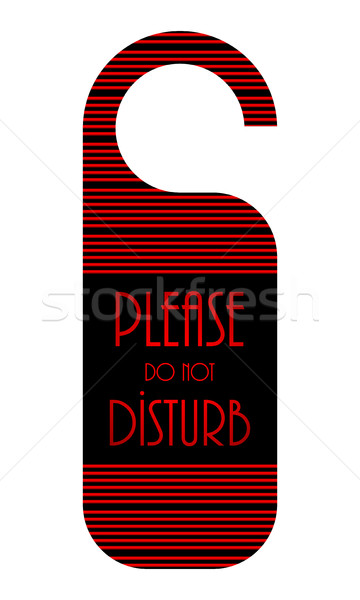 do not disturb hotel door knob, door hanger with special design Stock photo © place4design