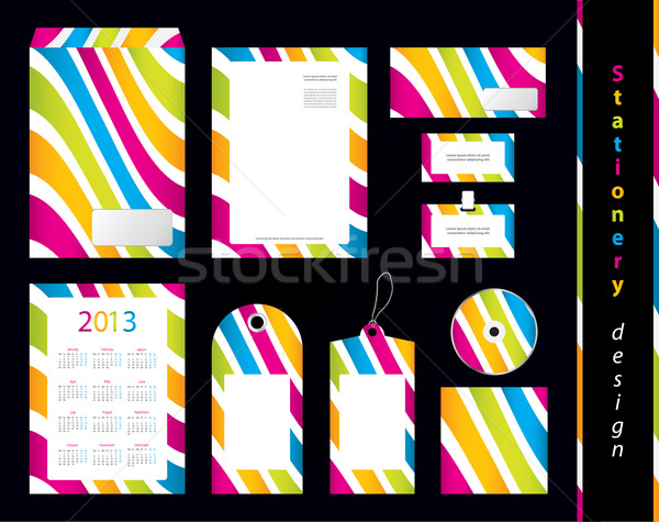 Stationery design set with special design Stock photo © place4design
