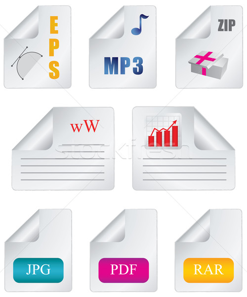 Document icon file extension Stock photo © place4design