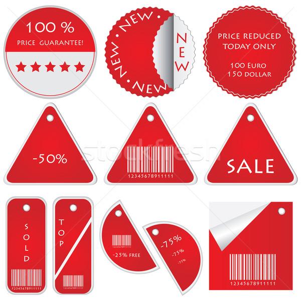 вектора набор знак магазин подарок Сток-фото © place4design