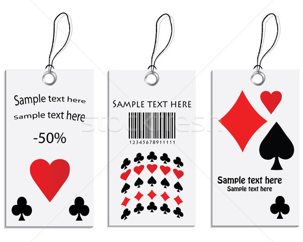 Vector set of tags - poker design Stock photo © place4design