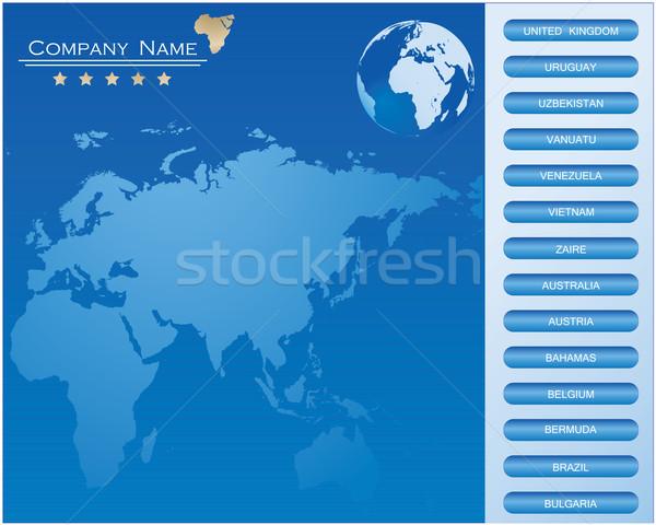 BLUE-Vector web site design template Stock photo © place4design