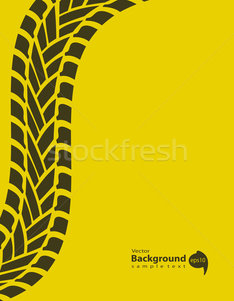 yellow special background with tire track, vector illustration,  Stock photo © place4design