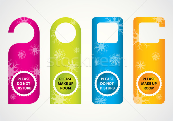 hotel do not disturb door hanger with special Christmas design Stock photo © place4design