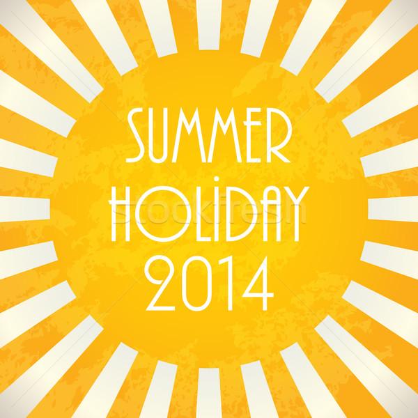 Verão 2014 eps10 sol nascer do sol quente Foto stock © place4design