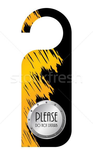 do not disturb door hanger Stock photo © place4design