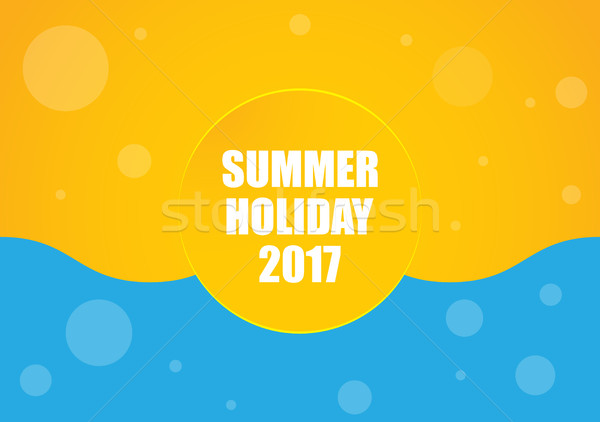 summer holiday 2017 background, yellow-blue abstract design Stock photo © place4design