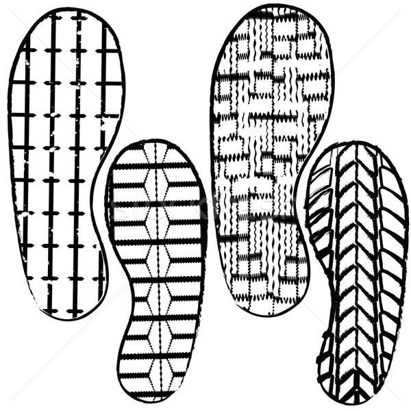 shoe prints Stock photo © place4design