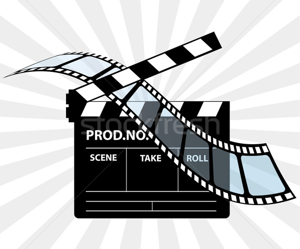 Movie director clapperboard Stock photo © place4design