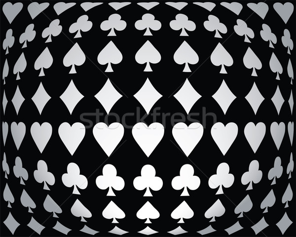 Black-white seamless poker background Stock photo © place4design
