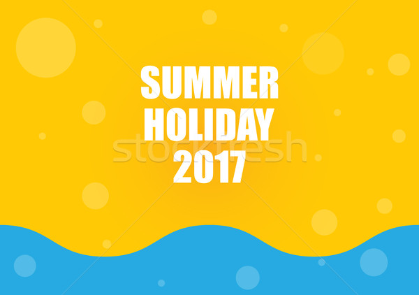 Nyári szabadság absztrakt tengerpart tavasz tenger nyár Stock fotó © place4design