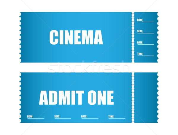 admit one ticket cinema tickets Stock photo © place4design