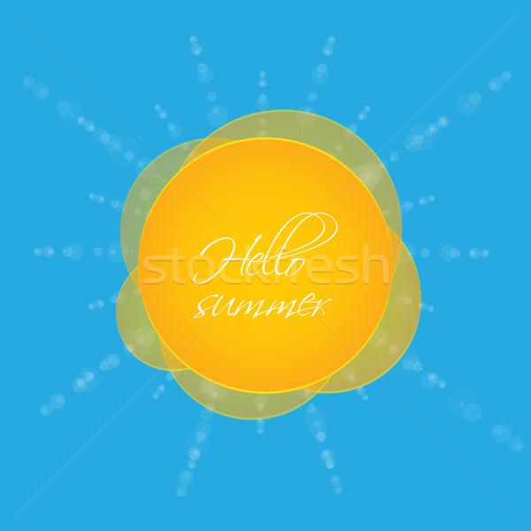 специальный лет вектора пляж воды солнце Сток-фото © place4design