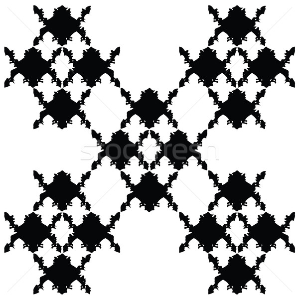 Wektora bezszwowy adamaszek wzór papieru tkaniny Zdjęcia stock © place4design
