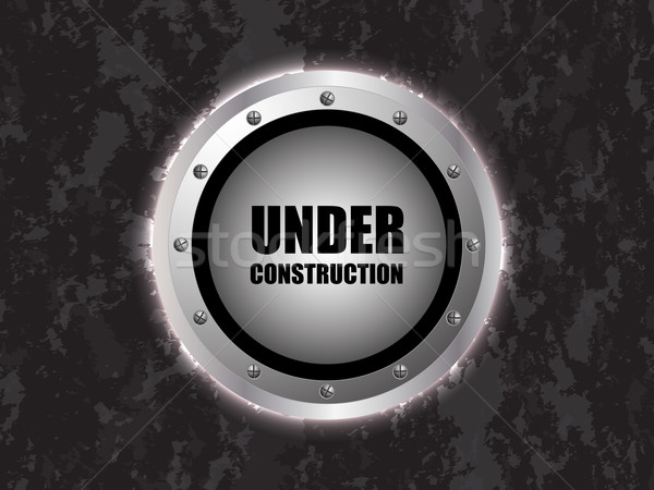under construction background with metallic design Stock photo © place4design