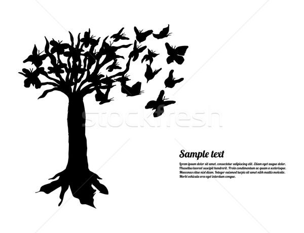 Art arbre spéciale papillons site papillon Photo stock © place4design