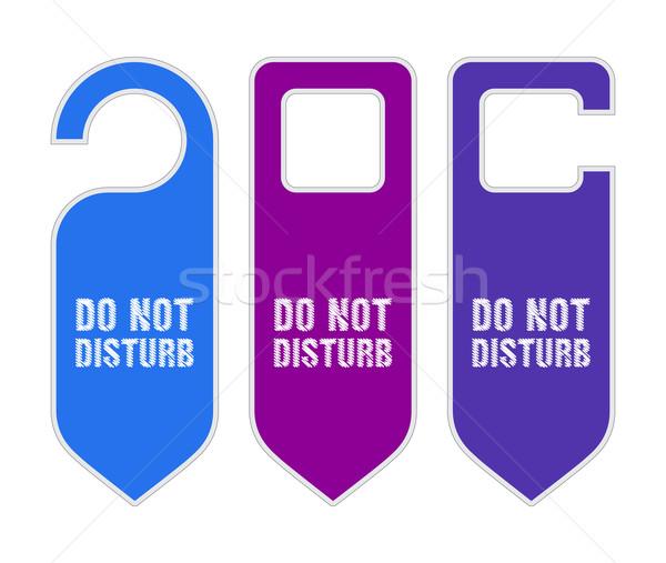 hotel do not disturb door hanger with sketch design Stock photo © place4design