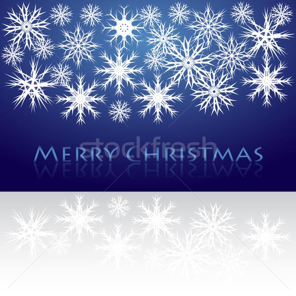 Natal negócio azul diversão branco alegria Foto stock © place4design