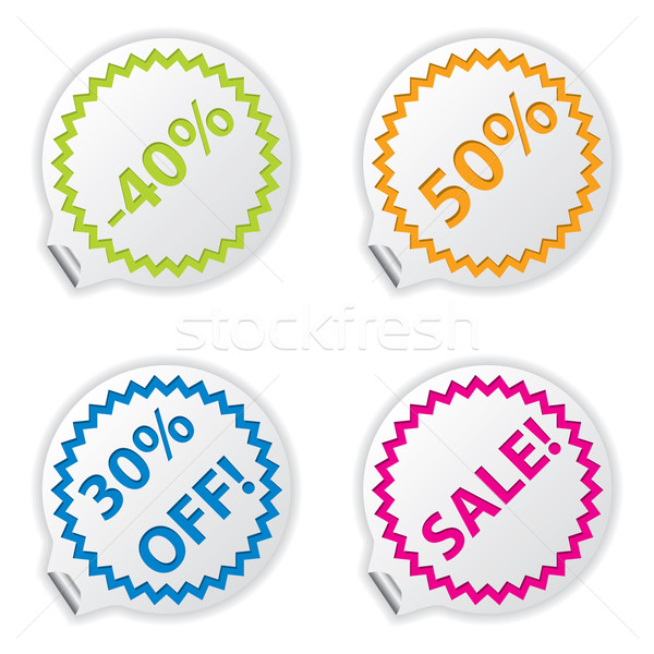 Sale or discount tags for price list Stock photo © place4design