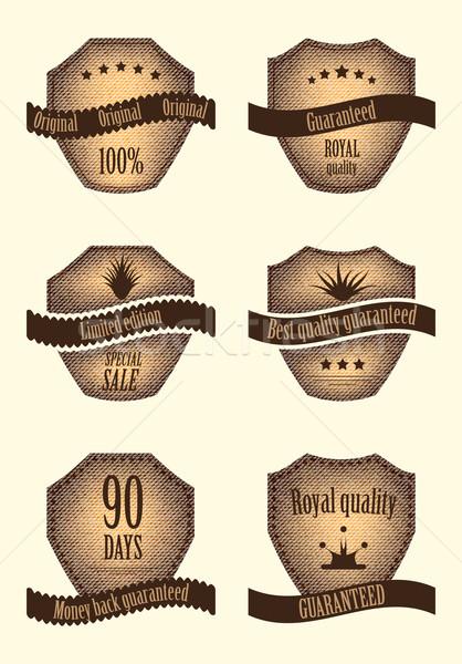 Szett különleges címkék különböző terv textúra Stock fotó © place4design