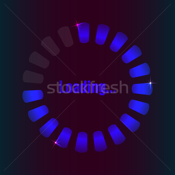 blue loading bar with special plasma design Stock photo © place4design