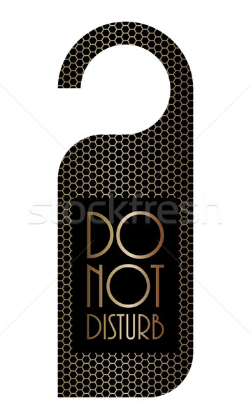 Stock photo: please do not disturb sign with metallic grid design