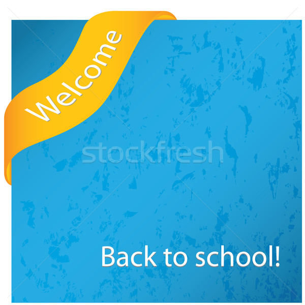 Back to school grunge background with special corner ribbon Stock photo © place4design