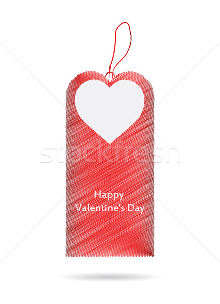 ár címke valentin nap terv szív nyár Stock fotó © place4design
