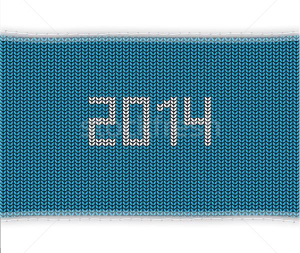 Speciale blu maglia 2014 sfondo inverno Foto d'archivio © place4design