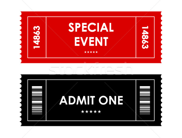special red-black event ticket Stock photo © place4design