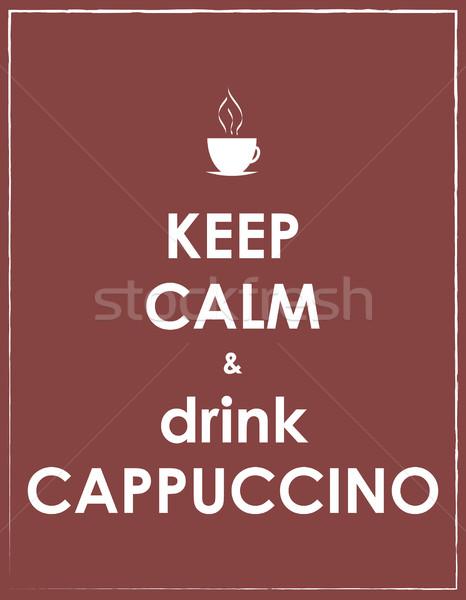 кофе фон искусства пить молоко кафе Сток-фото © place4design