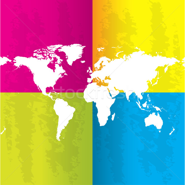 special abstract background with map of the world Stock photo © place4design